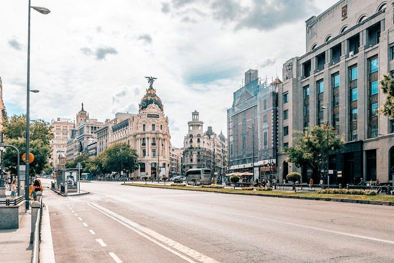 mudanza en el centro de Madrid