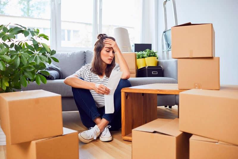 estrés durante una mudanza